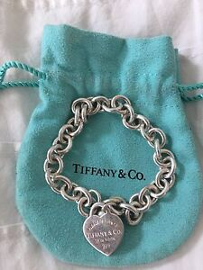 SELLING: Authentic Tiffany & Co. Heart Tag Charm Bracelet