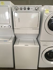 Mint condition whirlpool stacking washer dryer set