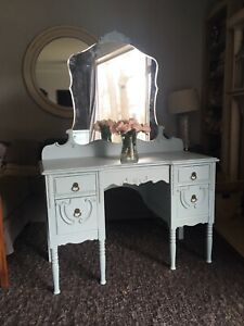 Delivery - antique French vanity painted Robin's egg blue