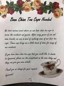 Bone China Tea Cups ......