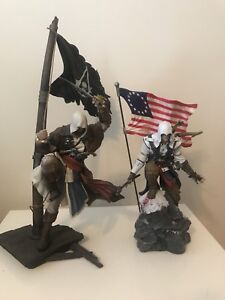 2 Large like new Assassin's Creed figures for the PlayStation 3