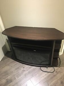 Tv stand and fireplace