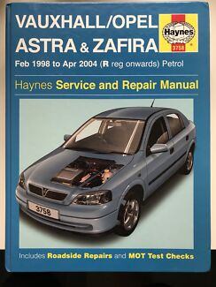 Holden Vauxhall/Opel Astra & Zafira Haynes Service and Repair Manual  Lane Cove Lane Cove Area Preview