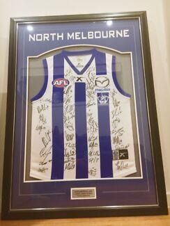 North Melbourne Signed & Framed Guernsey