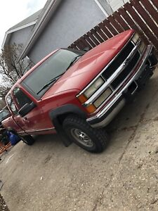 1998 k3500 crew cab long box