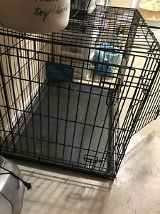 Large dog crate, countertop dishwasher, and futon for sale