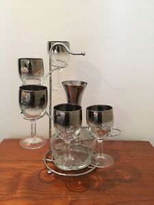 Vintage Dorothy Thorpe Mad Men Wine Decanter Set