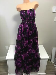 GUESS STRAPLESS CHIFFON FORMAL DRESS / GOWN - 10 - NWT