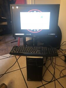 Desktop computer with a 22 inch  monitor