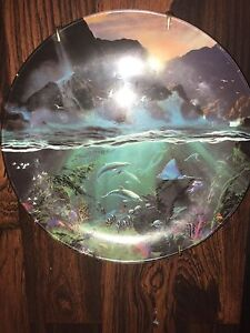 "LIMITED EDITION ! ""Sea of light"" plate"