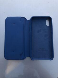iPhone X folio Case- Midnight Blue