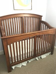 Crib, mattress and toddler bed