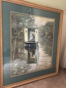 "Monet framed print ""The Boat Studio"""