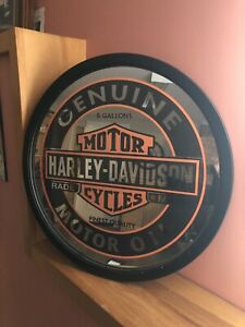 Harley Davidson mirror sign