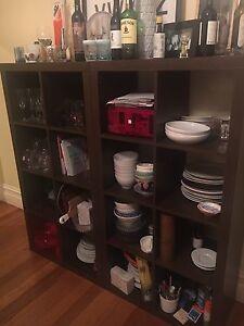 IKEA Kallax shelves - walnut x2 Carlton North Melbourne City Preview