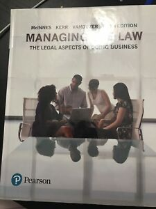 Managing the Law Textbook (LAW 122) - Ryerson University