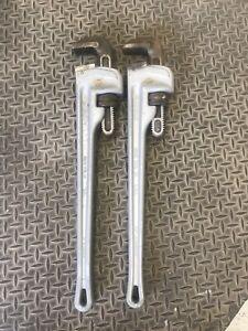 """24"""" Ridgid Aluminum Pipe Wrenches"""