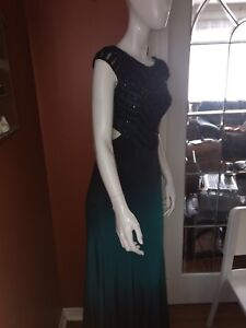 Black/real ombré prom dress