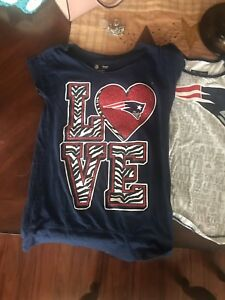 2 girls NFL Patriots T-Shirts size 8/10