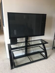 Glass TV stand + entertainment centre, brand new condition!