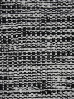 RRP.$1125 New Large Bayliss Thames Wool Flatweave Black White Rug