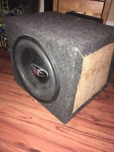 "REDUCED: 12"" Rockford Fosgate RFP3412 sub & Alpine MRP-350 amp"