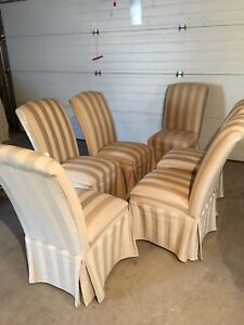 6 dining room chairs $300