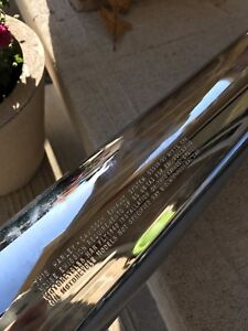 Harley Davidson chrome exhaust pipes