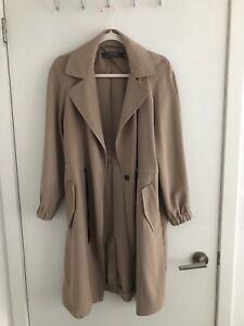 Zara Crepe Trench Coat - Size Small