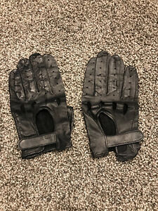 Leather driving gloves - new never used - XL