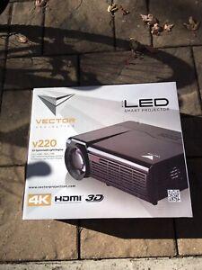 """Projector Vector LED v220 with 63"""" screen"""