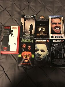 VHS classic horror movies