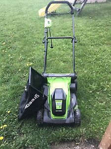 "Green Works 17"" 10 A electric lawn mower"