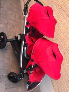 Double city select stroller with maxi Cosi car seat
