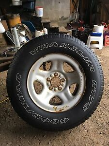 225 75 15 spare tire and rim from Jeep TJ