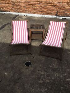 Sun chairs and table Point Clare Gosford Area Preview