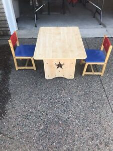 Kids Wooden Table/Chair Set