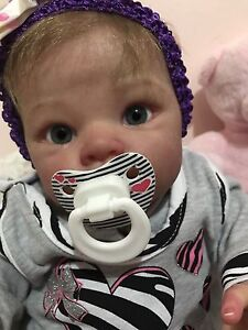 Reborn baby girl doll life like poppet limited eidition Docklands Melbourne City Preview