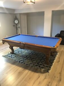 High end pool table