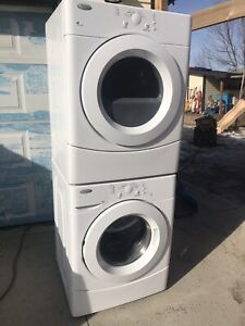 Whirlpool. Stackable Washer and Dryer
