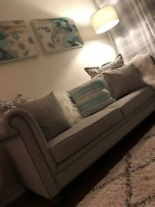 Stunning Grey Sofa Couch For Sale