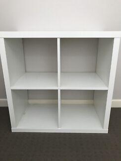 2 x white shelving units