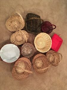 Assorted baskets (11)