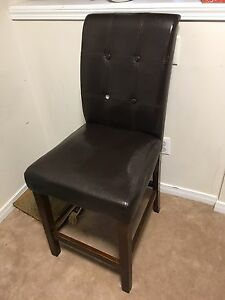 High leather chair - missing on button
