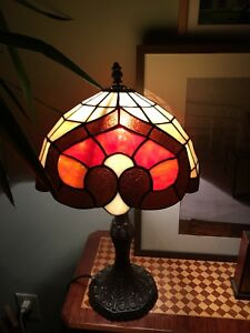 "Brand new 12"" stained glass lamp"