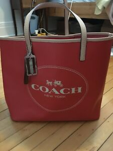 Orange coach tote bag - great for the beach!