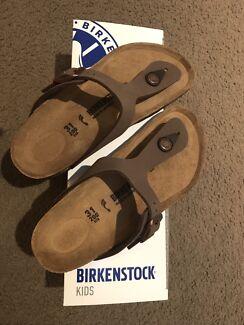 Kids Birkenstock Gizeh Mocca Size 31 Narrow (Shoes)