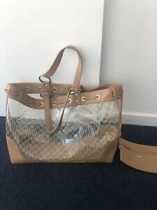 OROTON large camel tan pvc beach day bag RRP599 Docklands Melbourne City Preview