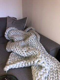 Chunky Knit Throw Decorative Accessories Gumtree Australia