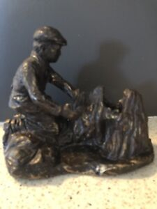 Early Sculpture by Tyler Fauvelle RARE Pioneer Spirit
